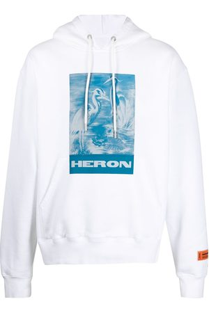 Heron Preston Men Hoodies - Logo-print organic cotton hoodie
