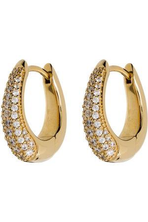 TOM WOOD Crystal pavé hoop earrings