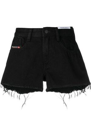 Diesel Raw-hem denim shorts
