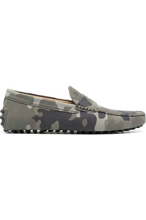 Tod's Camouflage pattern driving loafers