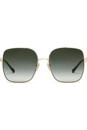 Gucci Horsebit detail square-frame sunglasses - Grey