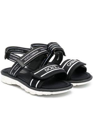 Dolce & Gabbana Kids Boys Sandals - Chunky logo-print sandals