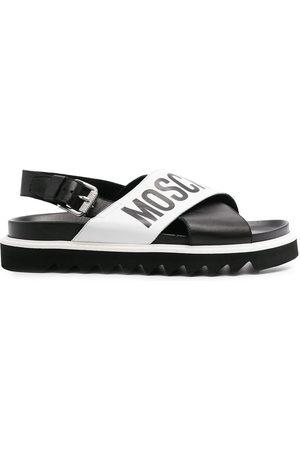 Moschino Cross-over logo sandals