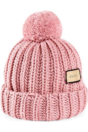 Gucci Women Hats - Logo patch knitted hat