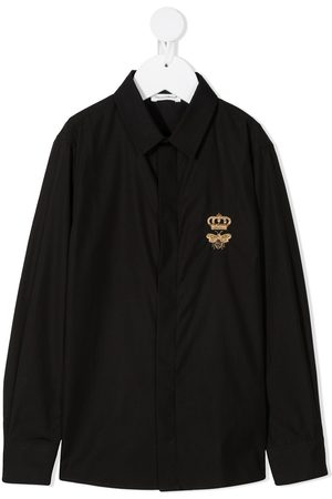 Dolce & Gabbana Logo-print long-sleeved shirt