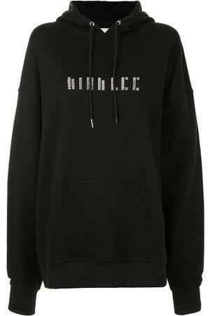 DION LEE Crystal-embellished long-sleeved hoodie