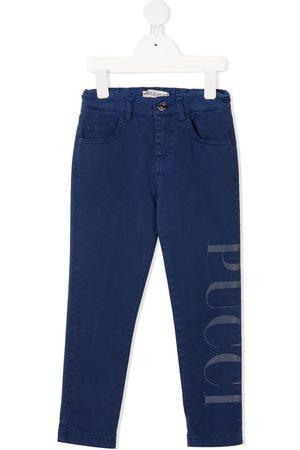 Emilio Pucci Logo-print slim jeans