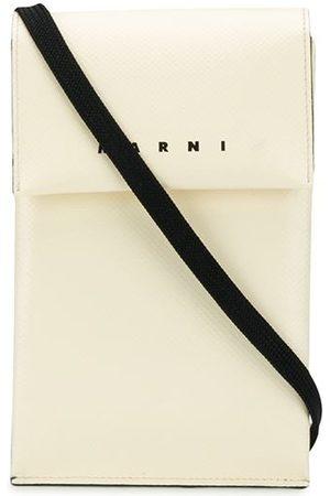 Marni Bi-colour logo lanyard pouch