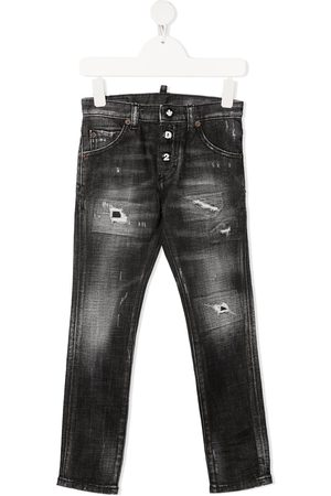 Dsquared2 Mid-rise straight-leg jeans - Grey