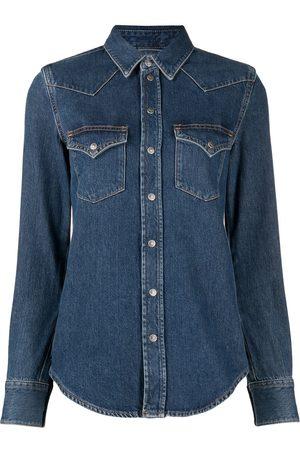 Diesel Western long-sleeved denim shirt