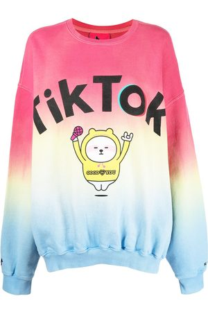 Ireneisgood TikTok print colour block sweatshirt