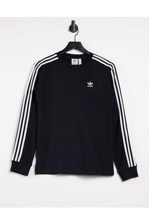 adidas Adicolor three stripe long sleeve t-shirt in