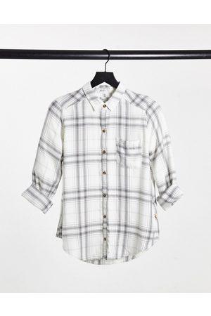 Hollister Long sleeve shirt in plaid-Grey