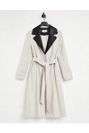 Helene Berman Contrast Pleather Ruth Coat in