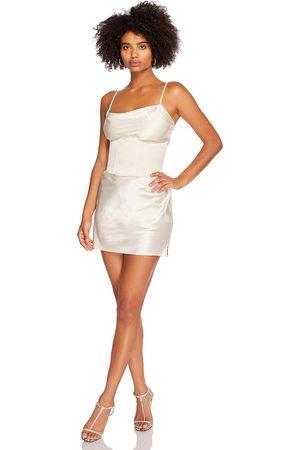 Steele Corset Slip Dress in Ivory