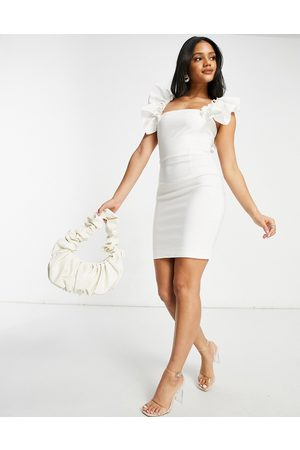 Vesper Mini dress with exaggerated sleeve in