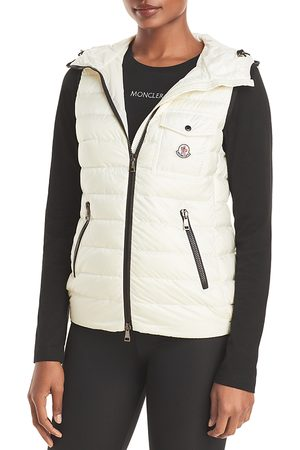 Moncler Women Gilets - Glyco Hooded Down Puffer Vest