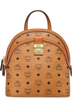 MCM Anna Visetos Small Backpack