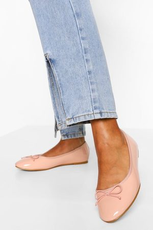 Boohoo Womens Wide Fit Round Toe Ballet Flats - - 5
