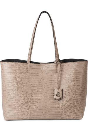 Jimmy Choo Nine2Five Large Embossed Leather Tote