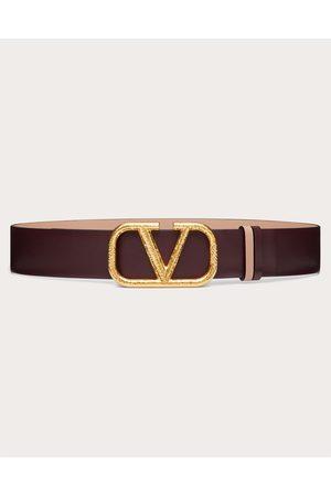 VALENTINO GARAVANI Women Belts - Reversible Vlogo Signature Belt In Grainy Calfskin 40 Mm Women Rubin/rose Canelle 100% Pelle Di Vitello - Bos Taurus 70