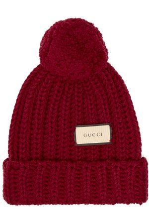 Gucci Logo-tag Wool Bobble Hat - Womens