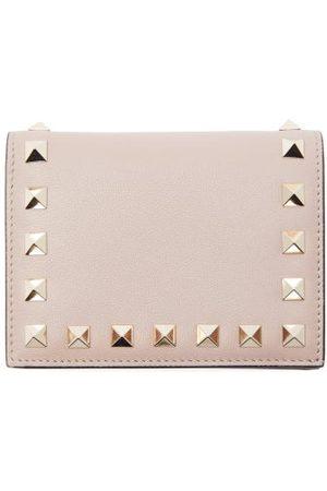 VALENTINO GARAVANI Women Wallets - Rockstud Leather Bi-fold Wallet - Womens - Nude