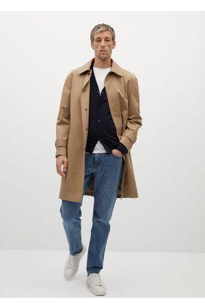 MANGO Men Cardigans - 100% merino wool washable sweater