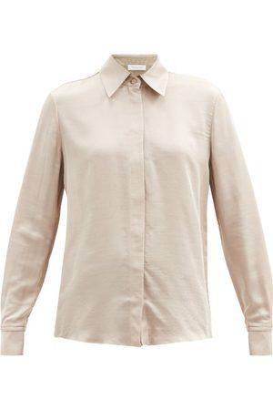 GABRIELA HEARST Jaq Buttoned-cuff Silk-blend Twill Shirt - Womens - Camel