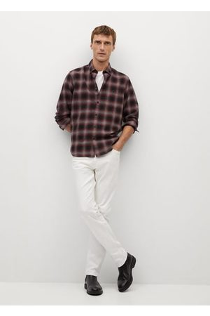 MANGO Regular fit checked flannel shirt