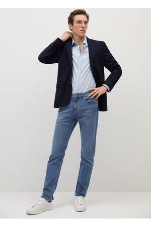 MANGO Structured textured blazer