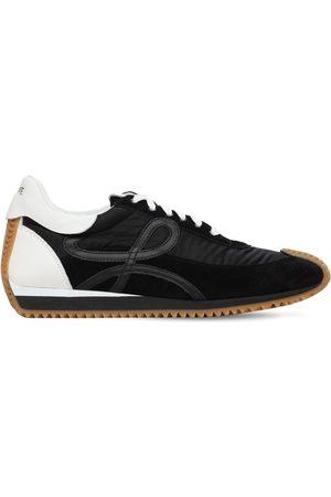 Loewe Suede & Tech Flow Runner Low Sneakers