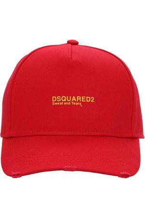 Dsquared2 Logo Embroidered Cotton Gabardine Cap