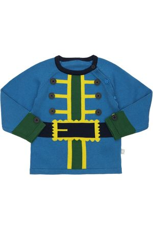 Stella McCartney Organic Cotton Intarsia Knit Cardigan