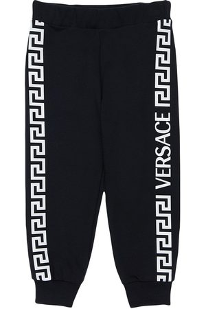 VERSACE Cotton Sweatpants W/ Side Print