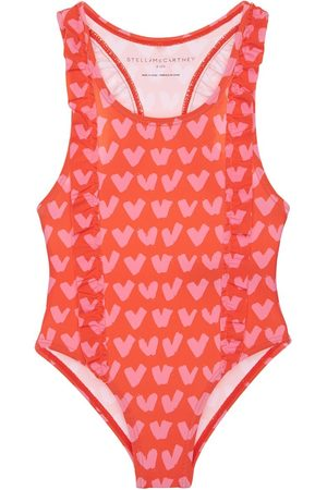 Stella McCartney Heart Print Recycled One Piece Swimsuit