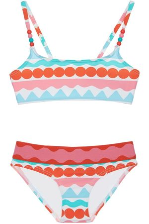Stella McCartney Striped Print Recycled Bikini Set