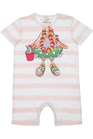 Stella McCartney Flamingo Print Organic Cotton Romper