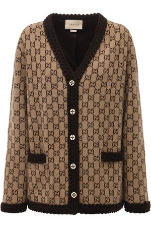 Gucci Logo Wool Knit Cardigan