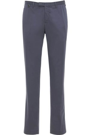 Pantaloni Torino Slim Wedge Stretch Cotton & Silk Pants