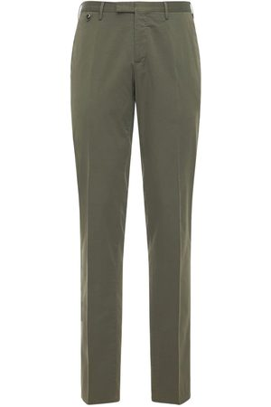 Pantaloni Torino Slim Wedge Stretch Cotton & Silk Pants
