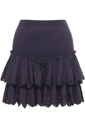 Isabel Marant Women Mini Skirts - Landora Studded Cotton & Silk Mini Skirt