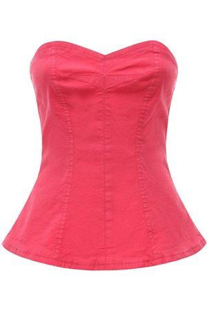 Isabel Marant Ezikio Linen & Cotton Ripstop Corset Top