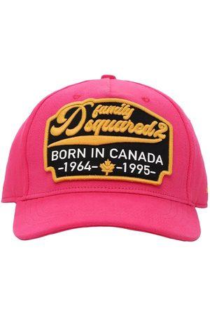 Dsquared2 Men Hats - Logo Patch Cotton Gabardine Baseball Hat