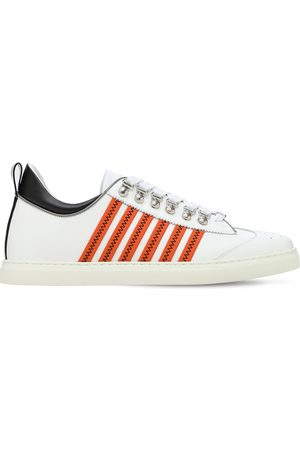 Dsquared2 251 Stripes Leather Low Top Sneakers