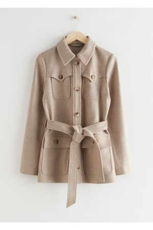 & OTHER STORIES Women Jackets - Long Belted Safari Jacket