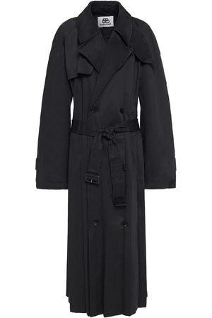 Balenciaga Woman Pleated Gabardine Trench Coat Size M