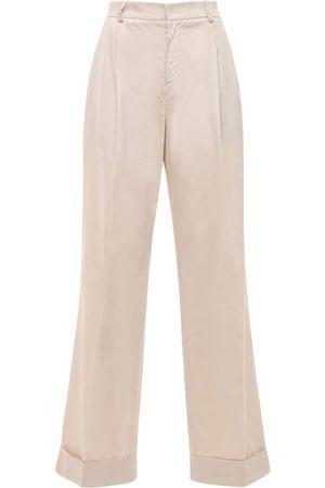 Acheval Pampa Gardel High Waist Cotton Satin Pants