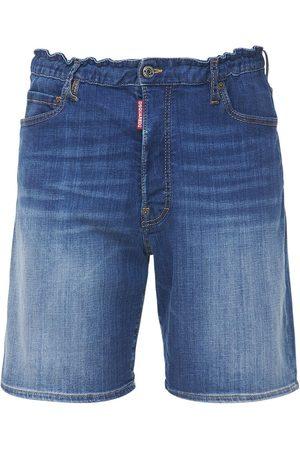 Dsquared2 27.5cm Cargo Marine Cotton Denim Shorts