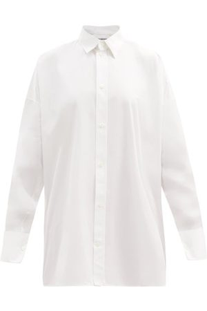 Balenciaga Women Shirts - Oversized Cotton-poplin Shirt - Womens